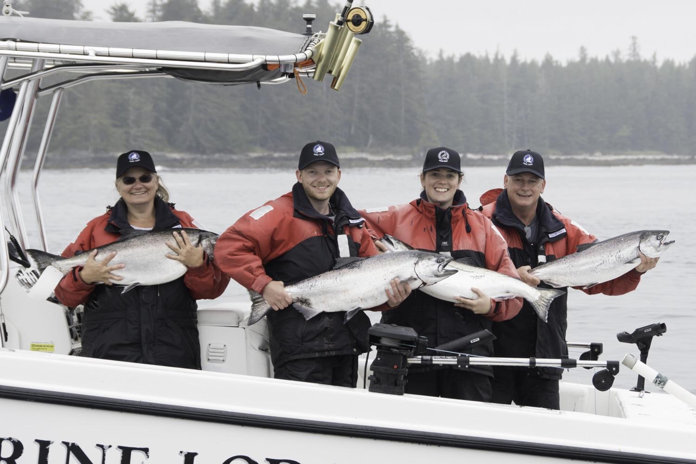 Salmon fishing, Tyee Salmon, Fishing lodge