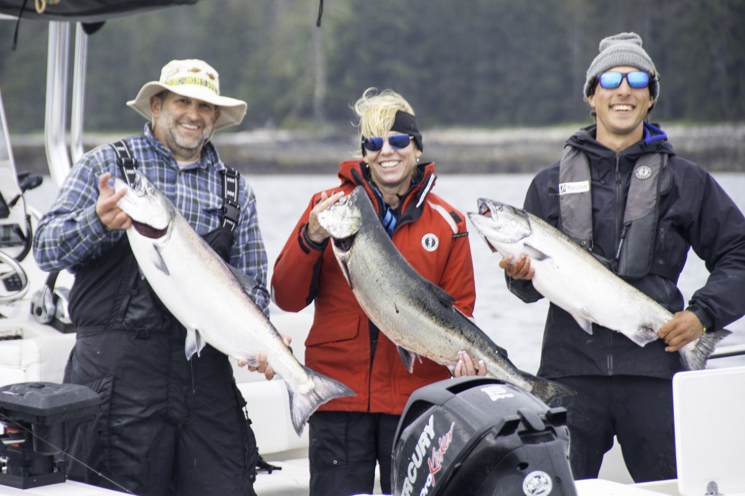 salmon fishing,  chinook salmon, fishing trip, Haida Gwaii