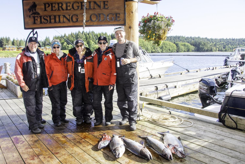 Family fishing trip, chinook salmon